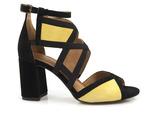 sandały z cholewką Maciejka 05181-07 - kolor: żółty, rudy, czarny