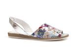 sandały Lemar 40062 - kolor: kwiaty srebro
