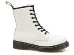 skórzane glany Filippo GL429 - kolor: biały