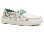 tekstylne sneakersy Hey Dude Wendy - kolor: biały