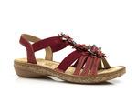 sandały Rieker 62858-33 - kolor: czerwony