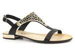 sandały rzymianki Nessi 17185 - kolor: czarny