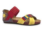 sandały Maciejka 03375 - kolor: czerwony żółty