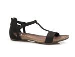 welurowe sandały Carinii b3779 - kolor: czarny nubuk
