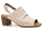 ażurowe sandały Venezia 022537 - kolor: róż