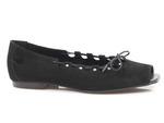 baleriny peep toe Lemar 40223 - kolor: czarny