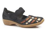 półbuty sandały Rieker 41369-14 - kolor: niebieski