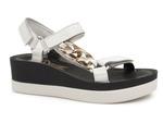 sandały na platformie Lemar - kolor: biały +zł