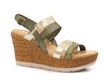 sandały espadryle Verano 8630 - kolor: zielony mix