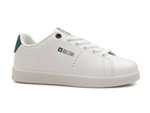trampki damskie z ekoskóry Big Star DD274217 - kolor: biały zielony
