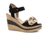 espadryle sandały Nessi 18346 - kolor: czarny