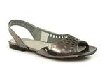sandały Maciejka 03052 - kolor: czarny srebrny