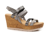 sandały espadryle Verano 8630 - kolor: szary mix