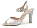 sandały na obcasie Eksbut 38-5011-369 - kolor: srebro