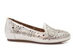 mokasyny lordsy Venezia 435003 - kolor: białe srebro