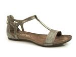 sandały Carinii b3779 - kolor: szare srebro lico