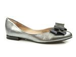 baleriny Eksbut 4910 - kolor: srebrny