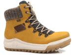 trzewiki z futerkiem Rieker Tex Y4730-68 - kolor: żółty