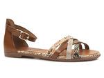 sandały rzymianki Verano 14204 - kolor: brąz
