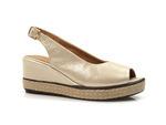 sandały na koturnie Badura 4710 - kolor: złoty