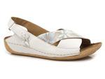 komfortowe sandały Maciejka 00994 - kolor: biały