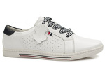 sneakersy półbuty Filippo DP2154 - kolor: biały