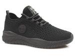 sneakersy półbuty z siatkowego materiału Big Star - kolor: czarny