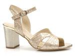 eleganckie sandały na obcasie Gamis 5070 - kolor: złoty