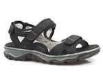 sandały sportowe Rieker 68872 - kolor: czarny