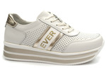 sneakersy skórzane Filippo DP1414 - kolor: biały +złoty