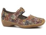 ażurowe półbuty sandały Rieker 413G7-90 - kolor: multi
