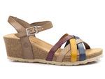 sandały koturny Yokono CADIZ 071 - kolor: multi sabia