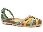 sandały gladiatorki Yokono Villa 011 - kolor: multi turquesa