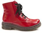 trzewiki Rieker 76240-33 - kolor: czerwony