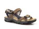 sandały sportowe Rieker 68872 - kolor: brąz