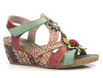 wielobarwne sandały Laura Vita Jackdeleo - kolor: turkus