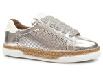 półbuty sneakersy Venezia 10T - kolor: silver white