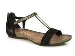 sandały Carinii b3779 - kolor: czarny welur