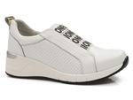 sneakersy skórzane Filippo DP2053 - kolor: biały