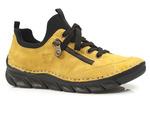 półbuty sneakersy Rieker 55073-68 - kolor: żółty
