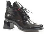 lakierowane botki Lemar 60361 - kolor: czarny naplak