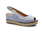 sandały na koturnie Badura 4710 - kolor: niebieski
