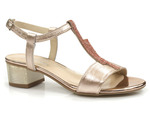 eleganckie sandały z cyrkoniami Gamis 5092 - kolor: złoty
