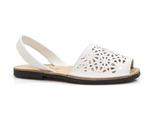 sandały na płaskim lordsy El Pimpi 387 - kolor: biały