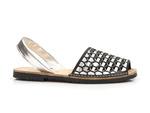 sandały na płaskim lordsy El Pimpi  367 - kolor: czarny + srebro