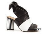 odkryte botki Badura 7787 sandały Gulietta - kolor: czarny lico