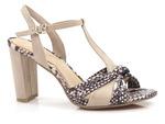 komfortowe sandały Marco Tozzi 28390 - kolor: beż wąż
