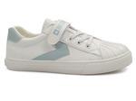 trampki dziecięce  młodzieżowe Big Star FF374120 - kolor: biały/niebieski