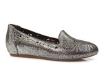 mokasyny lordsy Venezia 435003 - kolor: czarne srebro