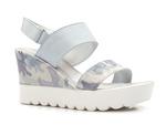 sandały platformy Lemar 40001 - kolor: błękit moro